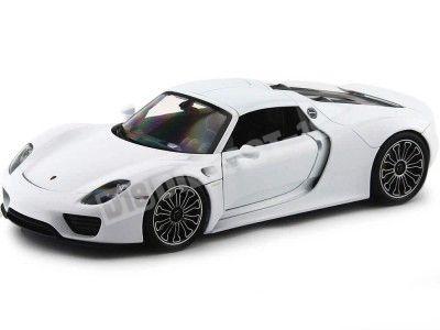 2013 Porsche 918 Spyder Hard-Top Blanco 1:18 Welly 18051 Cochesdemetal.es