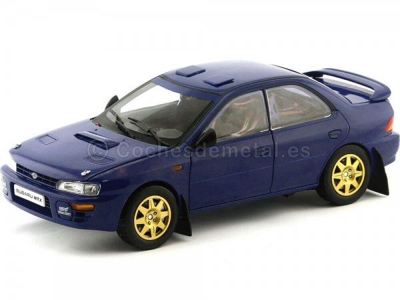 1996 Subaru Impreza STi Street Legal WRX Azul 1:18 Sun Star 5512 Cochesdemetal.es
