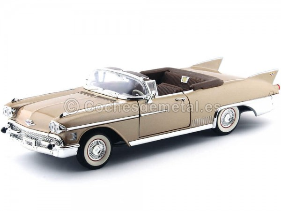1958 Cadillac Eldorado Biarritz Open Convertible Gold 1:18 Lucky Diecast 92158 Cochesdemetal.es
