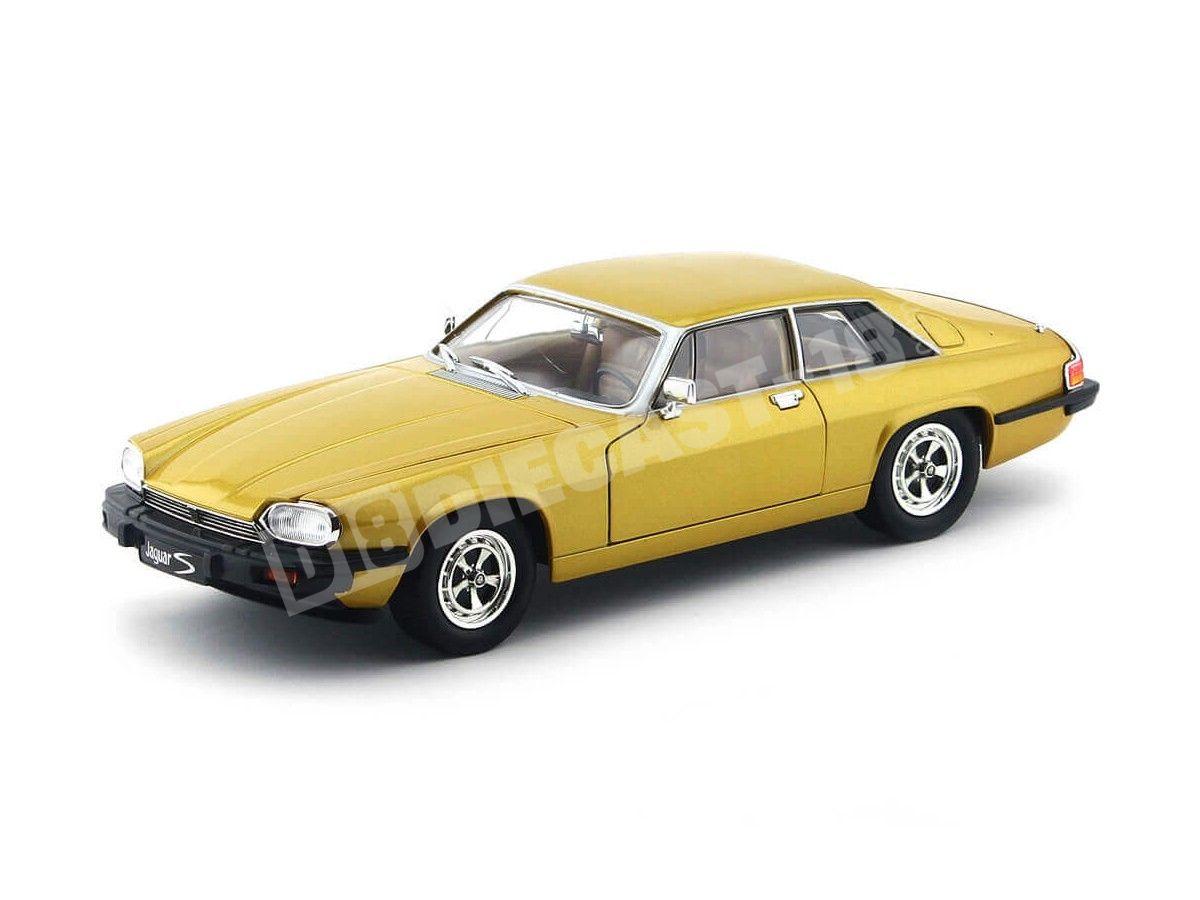 1975 Jaguar XJS V12 Gold Metalizado 1:18 Lucky Diecast 92658 Cochesdemetal.es
