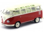 1961 Volkswagen T1 Samba Bus Red/Cream 1:18 KK-Scale 180151