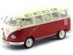 1961 Volkswagen T1 Samba Bus Red-Cream 1:18 KK-Scale 180151