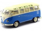 1961 Volkswagen T1 Samba Bus Blue/Cream 1:18 KK-Scale 180152
