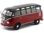 1961 Volkswagen T1 Samba Bus Black/Red 1:18 KK-Scale 180153