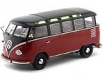 1961 Volkswagen T1 Samba Bus Black-Red 1:18 KK-Scale 180153