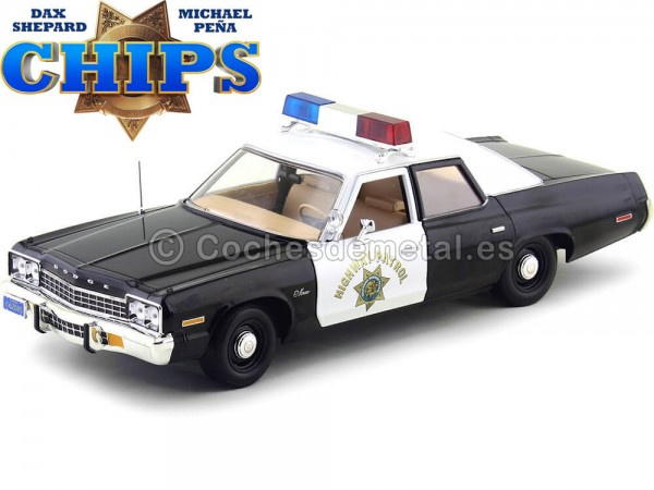 "1975 Dodge Monaco Police Car ""CHiPs"" 1:18 Auto World AWSS112"