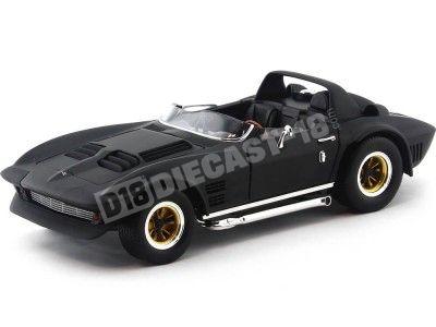 1964 Chevrolet Corvette Grand Sport Roadster Negro Mate 1:18 Lucky Diecast 92697 Cochesdemetal.es