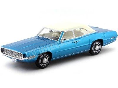 1968 Ford Thunderbird Landaulet Azul-Blanco 1:18 BoS-Models 229 Cochesdemetal.es