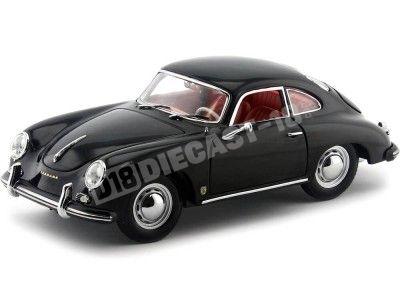 1957 Porsche 356A 1500 GS Carrera GT Coupe Black 1:18 Sun Star 1328 Cochesdemetal.es