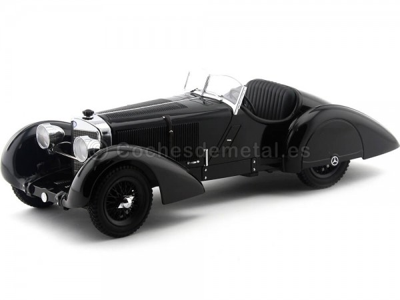 1932 Mercedes Benz 710 SSK Trossi Roadster Negro 1:18 KK-Scale 180131 Cochesdemetal.es