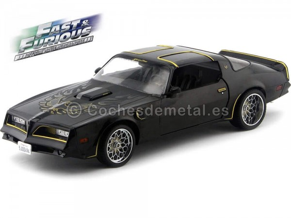"1978 Tegos Pontiac Firebird Trans Am ""Fast And Furious IV"" Negro 1:18 Greenlight 19026"