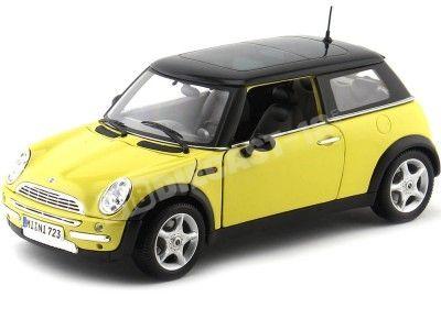 2004 Mini Cooper R50 Amarillo-Negro 1:18 Maisto 31656 Cochesdemetal.es