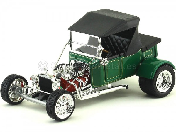 1923 Ford Model T Bucket Verde 1:18 Lucky Diecast 92829 Cochesdemetal.es