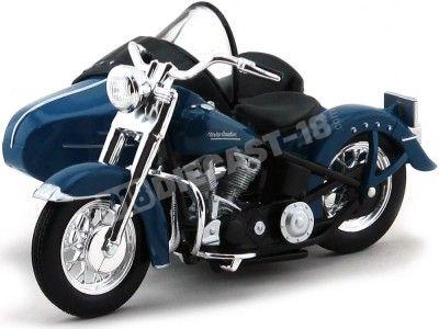 1953 Harley-Davidson Sidecar FL Hydra Glide Azul 1:18 Maisto 03175 Cochesdemetal.es