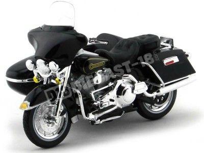 1998 Harley-Davidson Sidecar FLHT Electra Glide Negra 1:18 Maisto 20764 Cochesdemetal.es