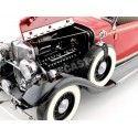 1933 Ford Lincoln KB Top Down Rebelite Red 1:18 Sun Star 6166 Cochesdemetal.es