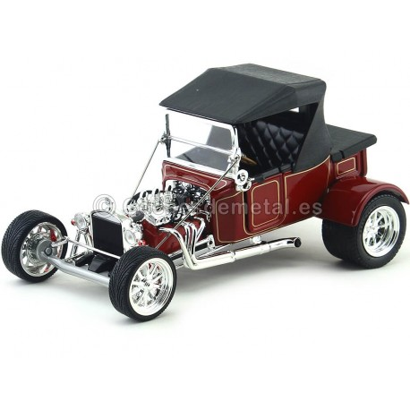 1923 Ford Model T Bucket Rojo 1:18 Lucky Diecast 92829 Cochesdemetal.es