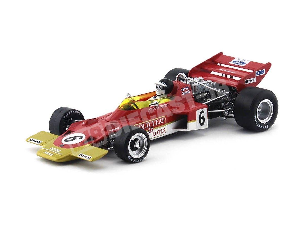 "1970 Lotus Type 72C ""J. Rindt Winner GP France"" 1:18 Quartzo 18275 Cochesdemetal.es"