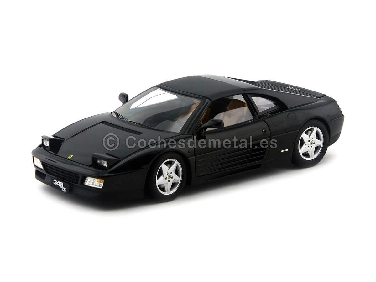 1990 Ferrari 348 TS Negro 1:18 Hot Wheels Elite X5481 Cochesdemetal.es