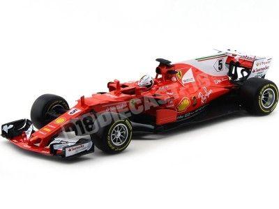 2017 Scuderia Ferrari SF70-H Sebastian Vettel 1:18 Bburago 16805V Cochesdemetal.es