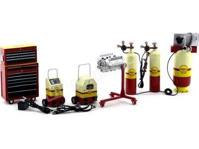 Set de Accesorios para Garage Shell 1:18 ACME GMP 18869 Cochesdemetal.es