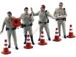 Set 4 Policias de Trafico con Conos 1:18 American Diorama 77463