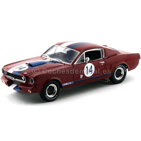 1965 Shelby GT 350R Granate 1:18 Shelby Collectibles 363 Cochesdemetal.es