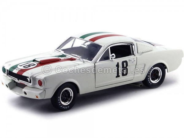 1965 Shelby GT 350R Blanco 1:18 Shelby Collectibles 357 Cochesdemetal.es