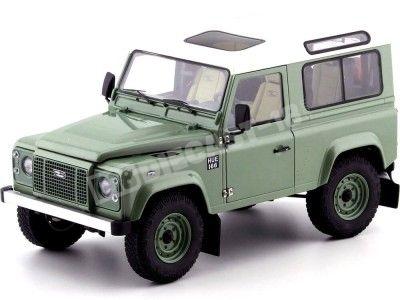 2010 Land Rover Defender 90 TDI Green-Whire 1:18 Kyosho 08901GGR Cochesdemetal.es