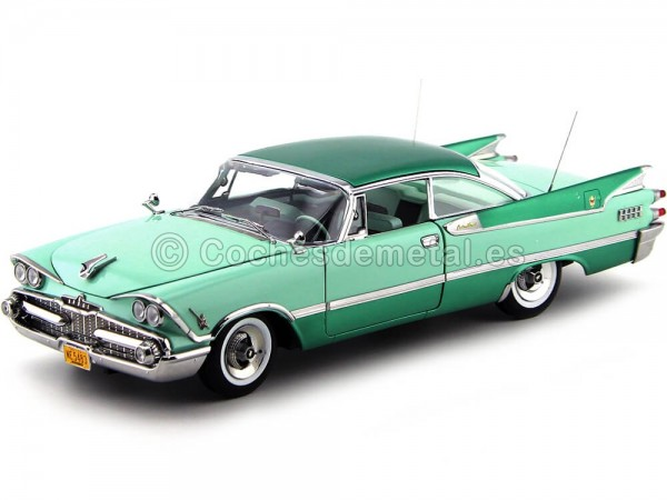 1959 Dodge Custom Royal Lancer Hard Top Jade-Aquamarine 1:18 Sun Star 5483 Cochesdemetal.es