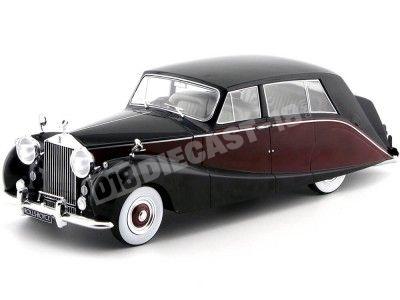 1956 Rolls Royce Silver Wraith Empress By Hooper Granate-Negro 1:18 MC Group 18064 Cochesdemetal.es