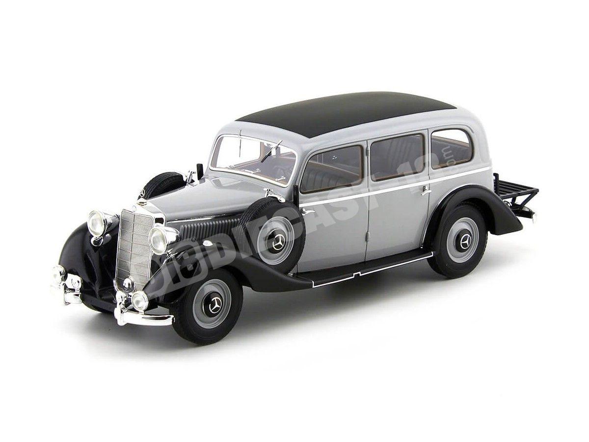 1937 Mercedes-Benz 260D (W138) Pullman Gris-Negro BoS-Models 117 Cochesdemetal.es