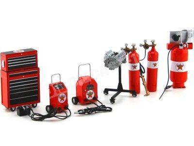Set de Accesorios para Garage Texaco 1:18 ACME GMP 18870 Cochesdemetal.es