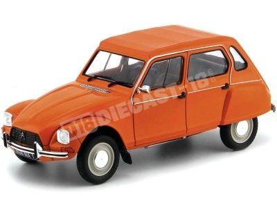 1974 Citroen Dyane 6 Orange Tenere 1:18 Solido S1800304 Cochesdemetal.es