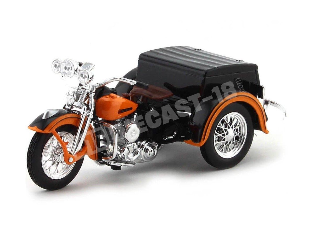 1947 Harley-Davidson Sidecar Servi-Car Naranja 1:18 Maisto 32420 Cochesdemetal.es