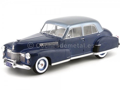 1941 Cadillac Fleetwood Series 60 Special Sedan Azul 1:18 MC Group 18072 Cochesdemetal.es