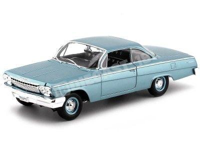 1962 Chevrolet Bel Air Turquesa 1:18 Maisto 31641 Cochesdemetal.es