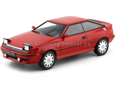 1990 Toyota Celica GT-Four ST165 Rojo 1:18 IXO Models 18CMC001 Cochesdemetal.es