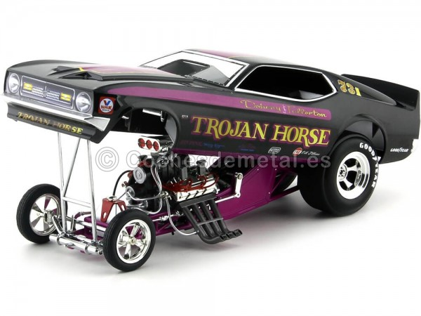 """1972 Ford Mustang Funny Car """"Trojan Horse"""" 1:18 Auto World AW1122 Cochesdemetal.es"""