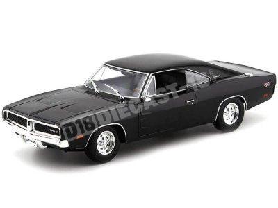 1969 Dodge Charger R-T Negro 1:18 Maisto 31387 Cochesdemetal.es