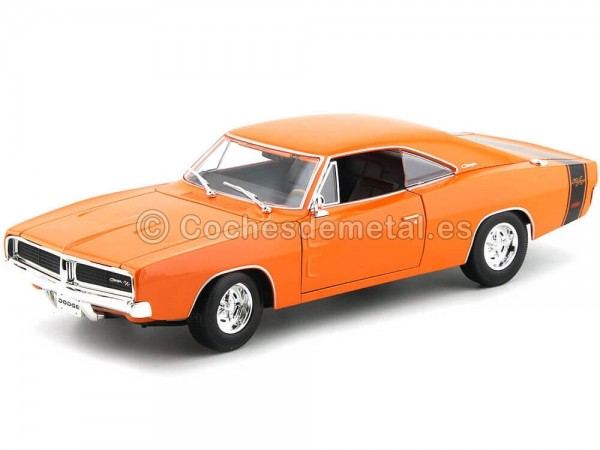 1969 Dodge Charger R-T Naranja 1:18 Maisto 31387 Cochesdemetal.es