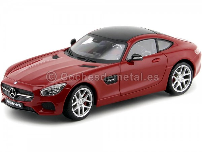 2015 Mercedes-Benz AMG GT V8 C190 Turbo Red 1:18 Maisto Exclusive 38131 Cochesdemetal.es