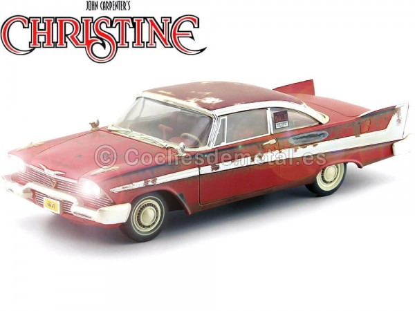 "1958 Plymouth Fury ""Christine"" Dirty Version 1:18 Auto World AWSS119 Cochesdemetal.es"