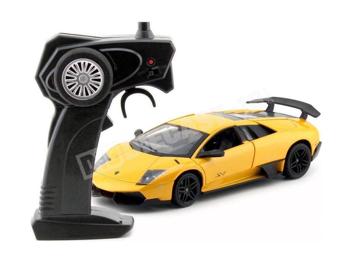 2013 Lamborghini Murcielago LP 670-4 SV Amarillo Radio Control 1:24 MZ Models 25018 Cochesdemetal.es