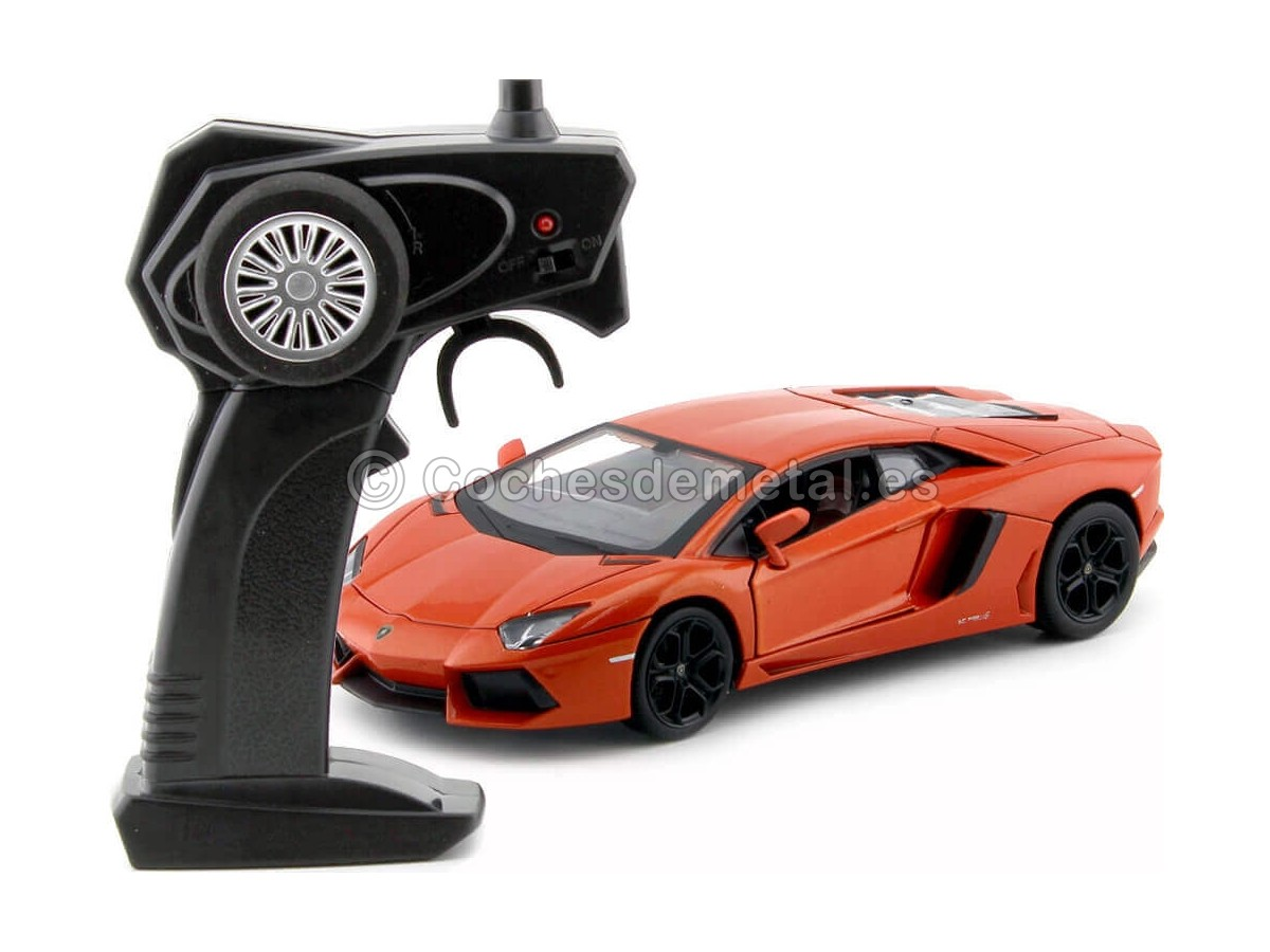 2013 Lamborghini Aventador LP700-4 Naranja Radio Control 1:24 MZ Models 25021 Cochesdemetal.es