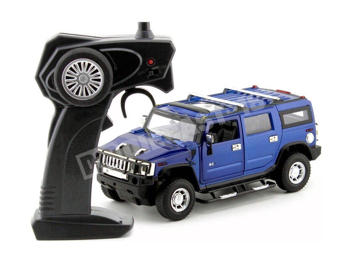 2003 Hummer H2 SUV Azul Metalizado Radio Control 1:24 MZ Models 25020 Cochesdemetal.es