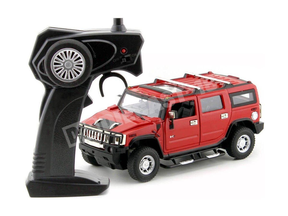 2003 Hummer H2 SUV Rojo Metalizado Radio Control 1:24 MZ Models 25020 Cochesdemetal.es