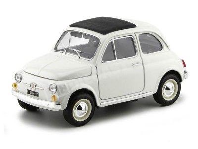 1965 Fiat 500 F Blanco 1:18 Bburago 12020 Cochesdemetal.es