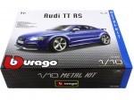 """2010 Audi TT RS TFSI Coupé Azul """"Metal Kit"""" 1:18 Bburago 15052"""