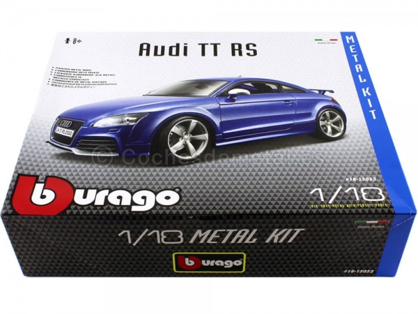 "2010 Audi TT RS TFSI Coupé Azul ""Metal Kit"" 1:18 Bburago 15052"